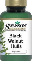 Антипаразитное средство - Кожура черного ореха / Black Walnut Hulls, 500 мг 60 капсул