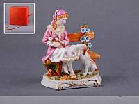 Статуэтка Девушка на лавке 18 см фарфор Италия, фото 1