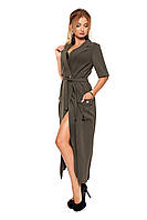 Женское платье-пиджак №1089 (хакки)