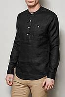 Осенние, демисезоные льняные изделия: брюки и рубашка, фото 1