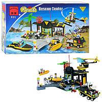 Конструктор 111 Спасательный центр, техника,фигурки,здание в коробке 48-29-6,5см
