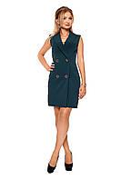 Короткое женское платье №1088 (бутылочный)