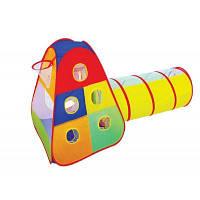 """Палатка 889-175B (12шт) """"С тоннелем и кольцом для игры в мяч """", в сумке"""