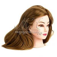 Учебная голова-манекен для причесок, длина 65-70 см, русые