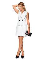 Короткое женское платье №1088 (молочный)