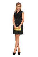 Короткое женское платье №1088 (черный)