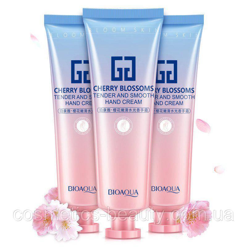 Зволожуючий крем для рук BIOAQUA Сһеггу Blossoms Hand Cream з екстрактом сакури.