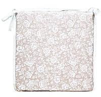 Подушка Прованс Белая роза на стул 40 x 40 см (000021109)