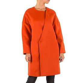 Пальто женское оверсайз производителя Julie By Jcl (Франция) Красный