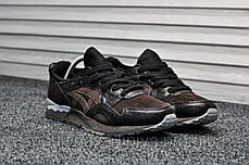 Кроссовки мужские черные Asics Gel Lyte V Ostrich Leather Pack (реплика), фото 3