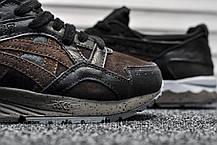 Кроссовки мужские черные Asics Gel Lyte V Ostrich Leather Pack (реплика), фото 2