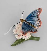 Композиция Pavone Бабочка на цветах 5.5 см Сине-красная (104640)