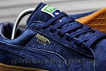 Кроссовки мужские синие Puma Suede Classic Eco Deep Blue (реплика) , фото 3