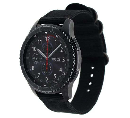 Нейлоновый ремешок Primo Traveller для часов Samsung Gear S3 Classic  SM-R770 / Frontier RM-760 - Black