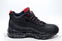 Зимние кроссовки на меху в стиле Nike Air Max 95, Dark Blue, фото 2