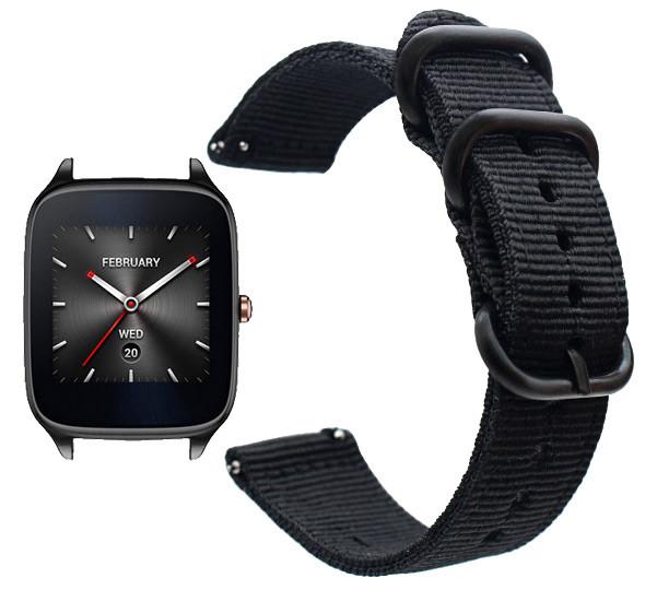 Нейлоновый ремешок Primo Traveller для часов Asus ZenWatch 2 (WI501Q)  - Black