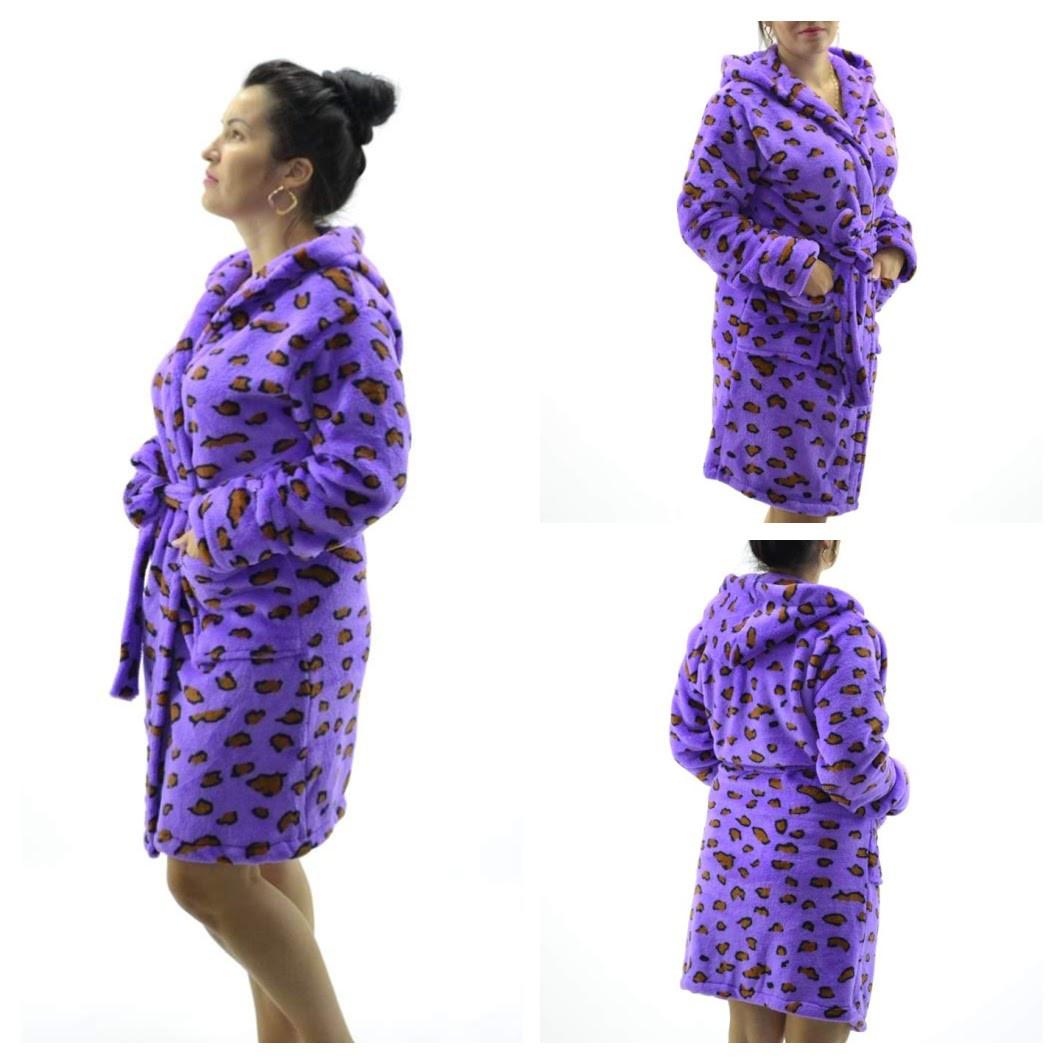 2d5e969a0675cac Женские махровые халаты Леопард ( Размер XXL 52-54): продажа, цена в ...