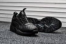 Кроссовки мужские черные Puma Highsnobiety Leather Triple Black (реплика) , фото 3