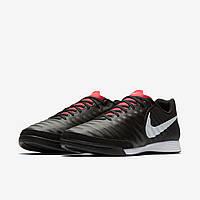Футзалки кожаные Nike Tiempo LegendX 7 Academy (IC) AH7244-006 Черные
