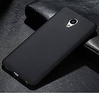 Силиконовый чехол Meizu M5S черный (матовый)