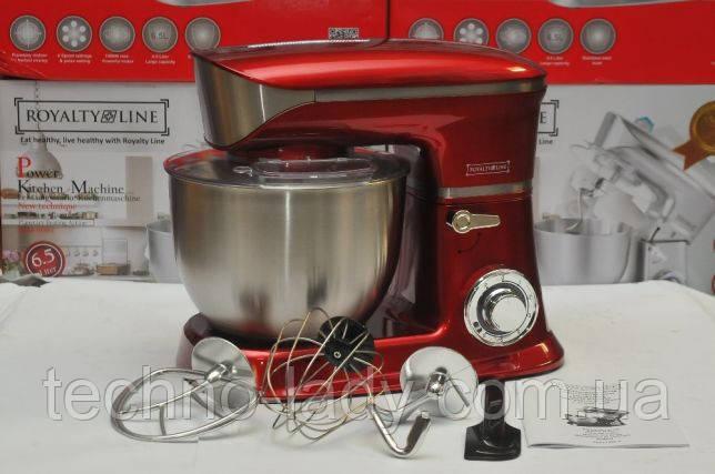 Кухонный комбайн тестомес Royalty Line RL-PKM1900,7 RED 1900 Вт