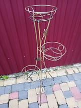 """Подставка кованая для цветов """"Башня"""" на 3 вазона, фото 2"""