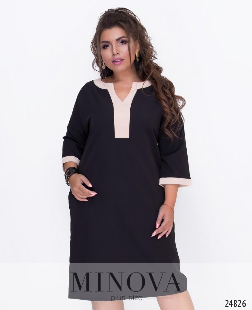 Лаконичное платье прямого кроя 50-56