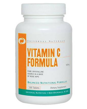 Вітамін Universal Nutrition Vitamin С 100 tabs, фото 2