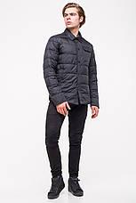 Демисезонная куртка-рубашка CLASNA CW18MC054 черная, фото 2