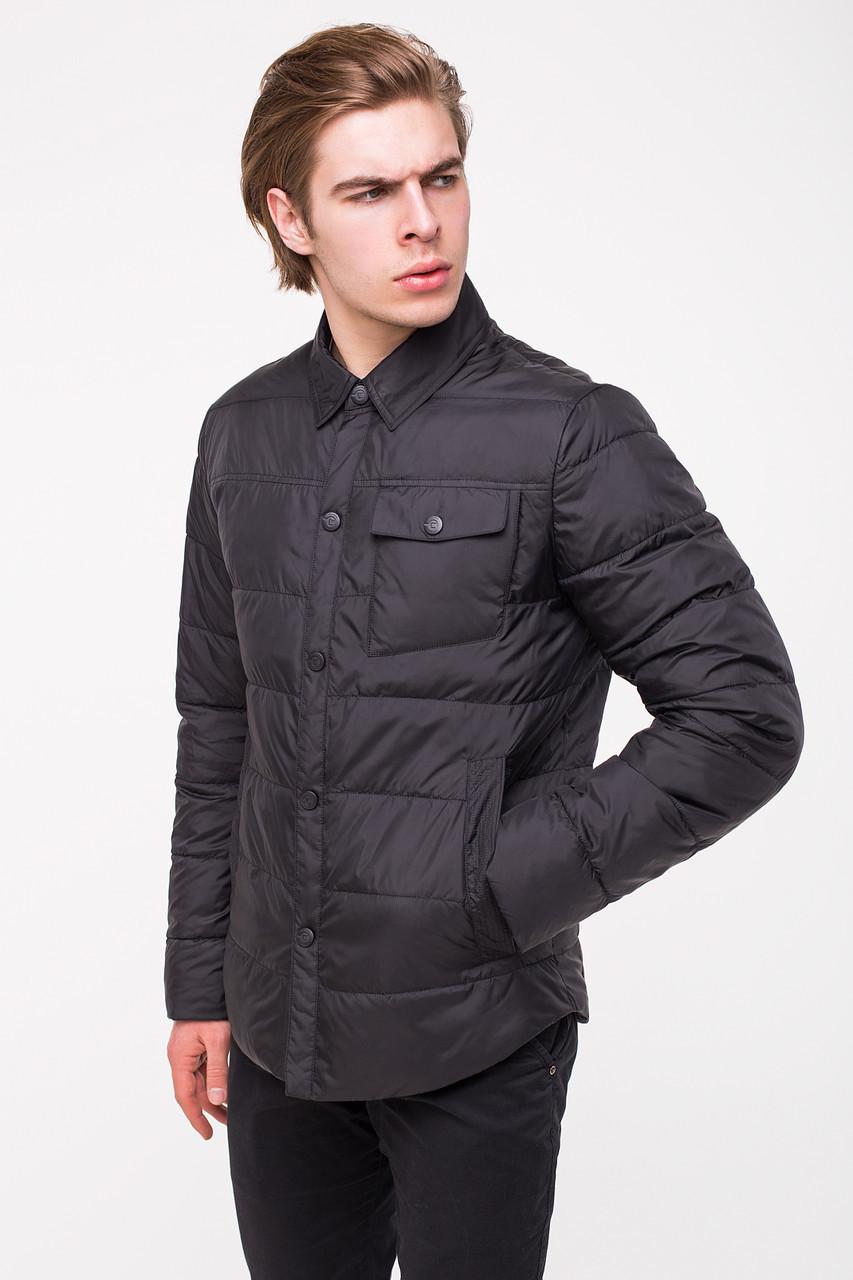 Демисезонная куртка-рубашка CLASNA CW18MC054 черная