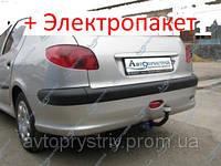 Фаркоп - Peugeot 206 Седан, Кабріолет (2006--), фото 1