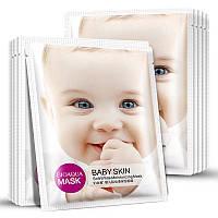 Тканевая маска тонизирующая BIOAQUA Babe Skin SOFT WHITE MOISTURIZING MASK.