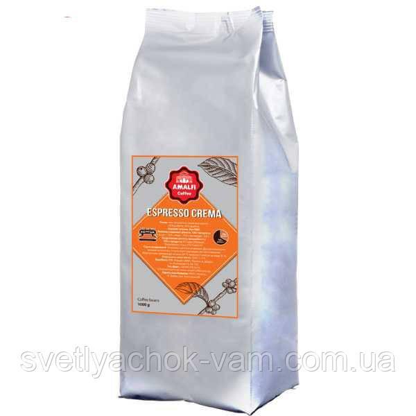 Кофе в зернах Espresso Crema 30 % арабика и 70 % робуста в зернах эспрессо-машина вендинг, упаковка 1000 г