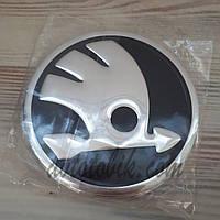 Наклейка эмблема на колпаки Skoda 90 мм (4 шт.), фото 1