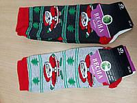 Детские махровые носки дед мороз