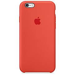 Чехол накладка Silicone Case для iPhone 6/6s - Orange