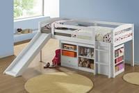 """Детская кровать """"Бамбино"""" из комбинации (белый,910х1930)"""