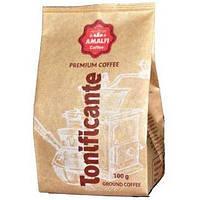 Кофе молотый Amalfi Coffee Tonificante 50% бразильской арабики и 50% робусты, упаковка 100 г