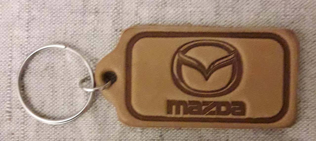 Автомобільний брелок Mazda (Мазда), брелоки для автомобільних ключів, автобрелки, шкіряний брелок