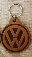 Автомобильный брелок Volkswagen (Фольксваген), брелки для автомобильных ключей, автобрелки, брелок кожаный