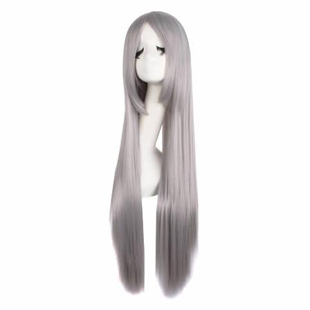 Длинный серый парик - 80см, прямые волосы, косплей, анимэ, фото 2
