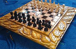 """Шахи - нарди """"Джокер"""" + різьблена шкатулка для фігур, фото 3"""