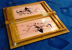 """Шахи - нарди """"Джокер"""" + різьблена шкатулка для фігур, фото 2"""
