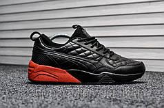 Кроссовки мужские черные Puma R698 Leather Х Highsnobiety Ronnie Fieg (реплика)