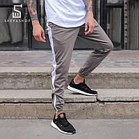 Спортивные штаны с лампасами мужские ТУР Rocky, серые