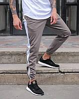 Молодежные спортивные штаны Rocky (Рокки) серые с белым