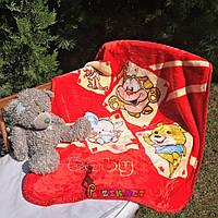 Плед детский мягкий двухсторонний (микрофибра утепленная) 100х100 см, Цвет 3, фото 1