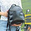 """Женский кожаный рюкзак """"Карина Black"""""""