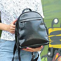"""Женский кожаный рюкзак """"Карина Black"""", фото 1"""