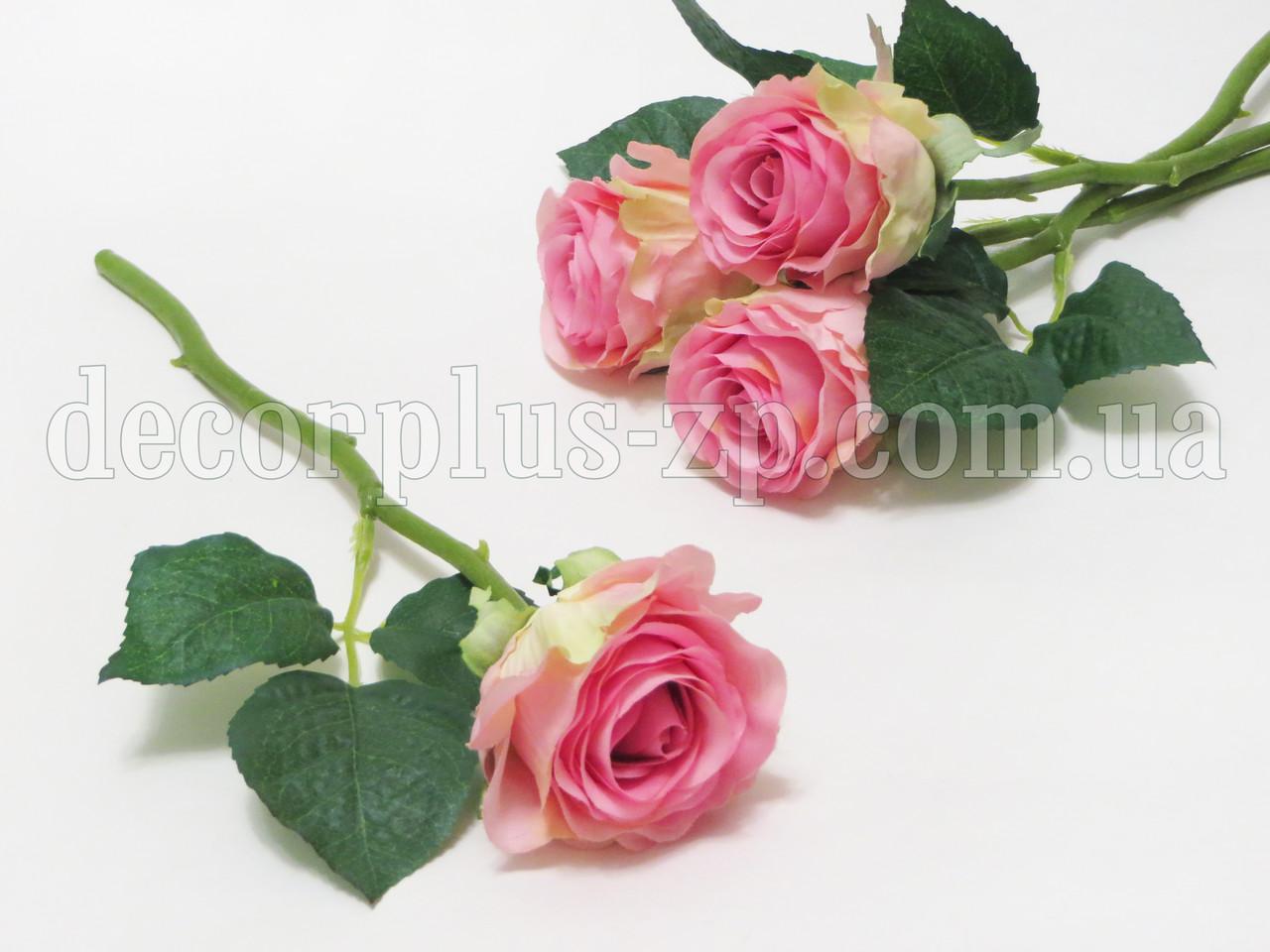 Розочка на стебле, короткая розовая